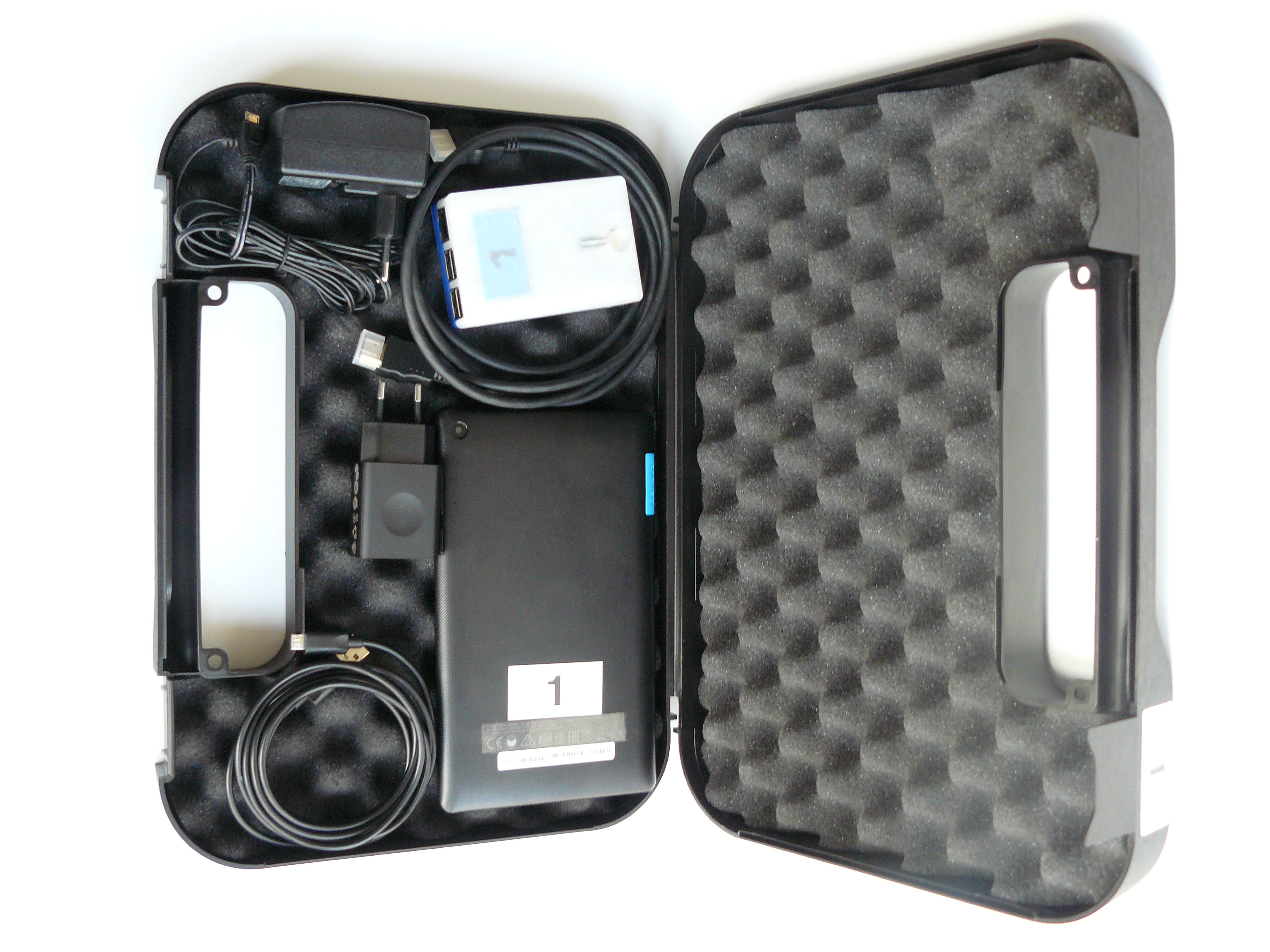 Suitcase with complete equipment